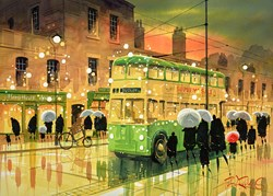 Merry Hill Rain by Peter J Rodgers - Original Painting on Paper sized 28x20 inches. Available from Whitewall Galleries